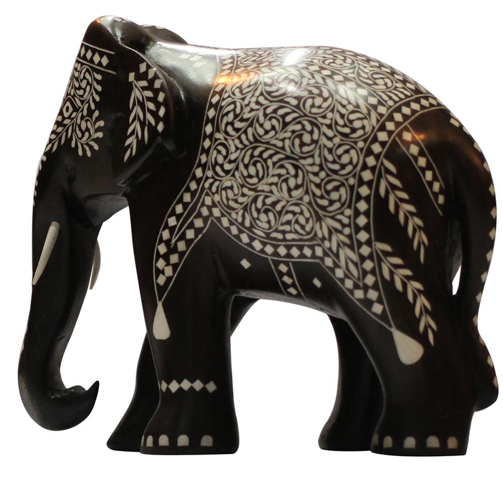 Artistic elephant sculpture