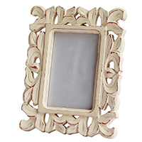 Wood with Intricate Carving in Traditional Pattern Photo Frame