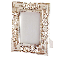 White Shabby Chic Rectangular Photo Frame