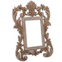 Photo Frame with Floral Carving
