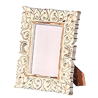 Hand Crafted Lattice Work Wooden Photo Frame