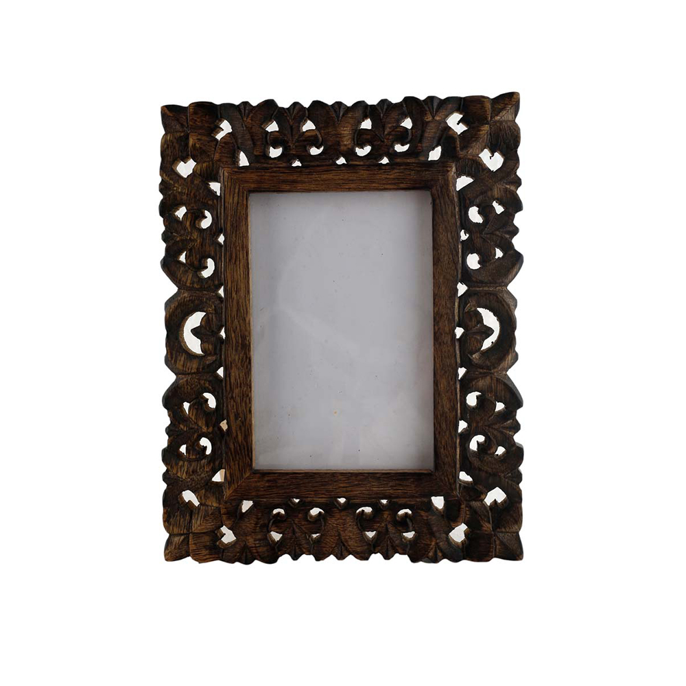 Antique Handmade Rustic Look Picture Frame