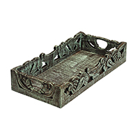 Carving Pastel Wooden Tray