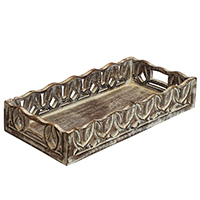 Intricate CarvingWooden Tray