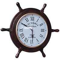 Wheel Shaped Wall Clock