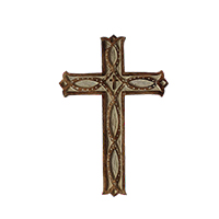 Antique Wood Wall Hanging Cross