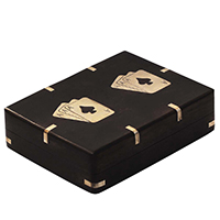 Black Wooden Cards Box