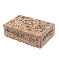 Wooden Hand Carved Triquetra Jewelry Keepsake Wooden Gift Box