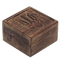 Square Wooden Jewelry Box