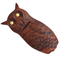 Small Quirky Owl Shaped Jewelry Box