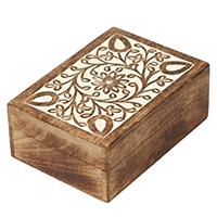 Wooden Floral Mottif Jewelry Box