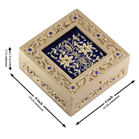 Carved Floral Motifs & Golden ZariZardoszi Box