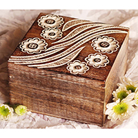 Brown Square Shaped Jewelry Box