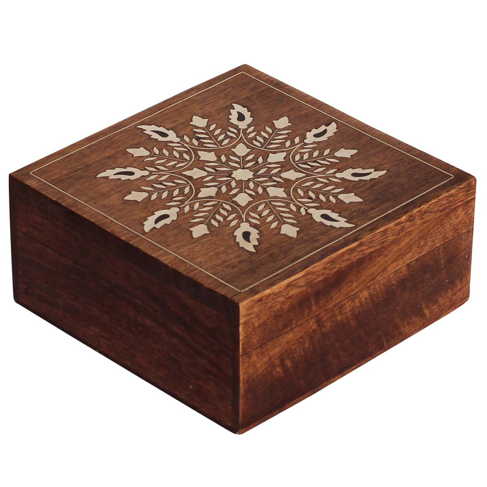 Acrylic Floral MandalaJewelry Box